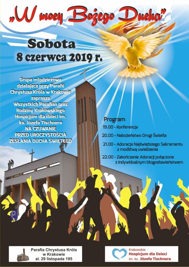 Czuwanie przed Zesłaniem Ducha Świętego 2019 - plakat